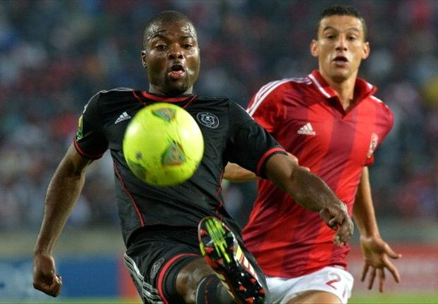 Orlando Pirates defender Rooi Mahamutsa against Al Ahly in the 2013 Caf Champions League Final