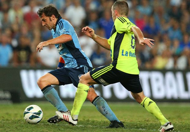 Alessandro Del Piero gets past Leigh Broxham