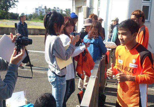 Chanathip Songkrasin gets warm reception at Shimizu S-Pulse