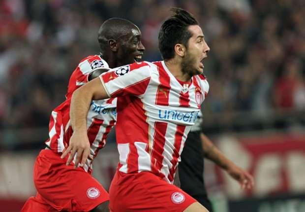 Olympiacos scorer Kostas Manolas