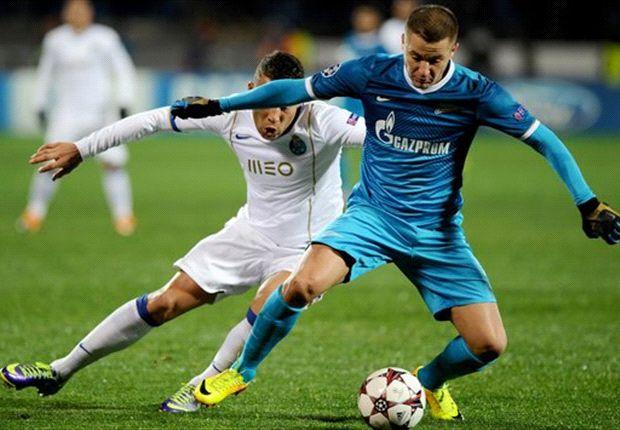Zenit 1-1 Porto: Hulk howler gifts Portuguese precious point