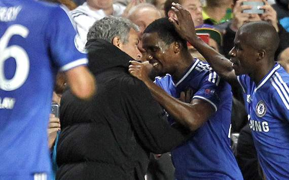 Jose Mourinho Samuel Eto'o Chelsea Schalke 04 Champions League 11062013