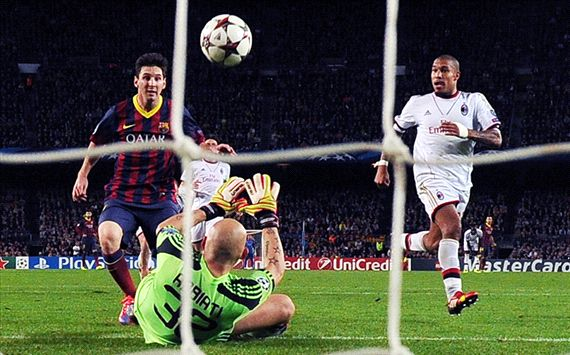 Lionel Messi Barcelona AC Milan Champions League 11062013