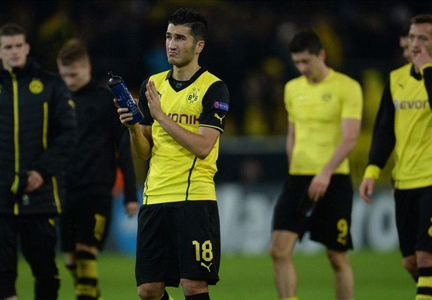 Borussia Dortmunds Nuri Sahin ist über die Niederlage gegen Arsenal traurig