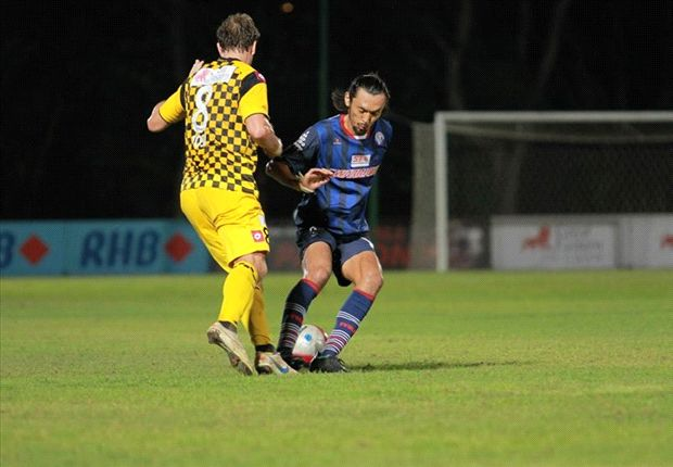 The former Japan international in action against Brunei DPMM.