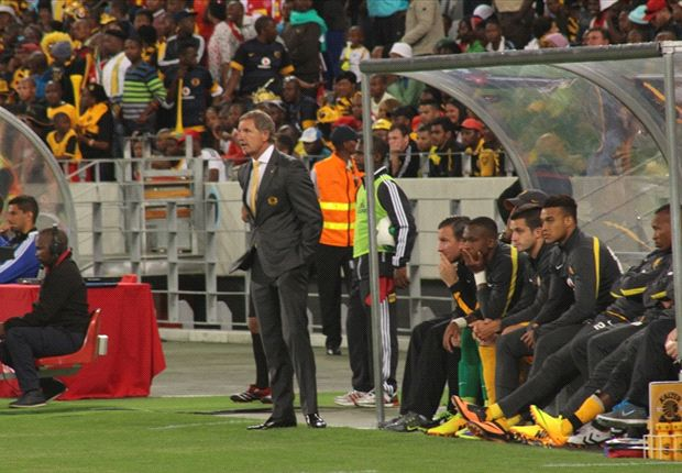 Kaizer Chiefs coach Stuart Baxter and his bench (Photo by Ignat Manjoo)