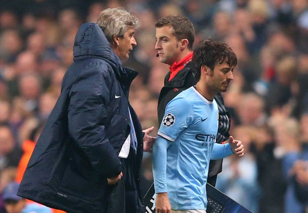 Manchester City star David Silva set to miss up to a month with calf injury