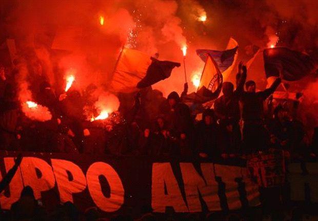 Extreme Stimmung in und ums Stadion in Hannover