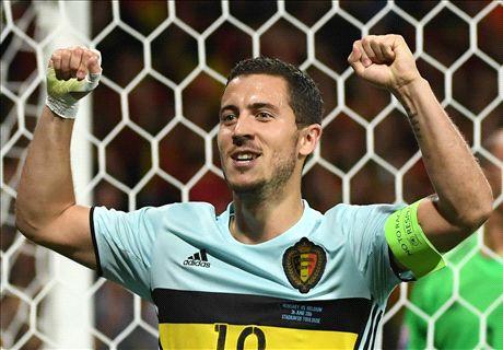 Brilliant Hazard inspires Belgium