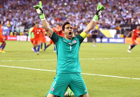 Bravo steps up for Chile in Copa triumph