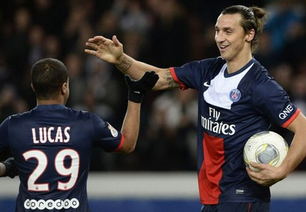 Paris Saint-Germain 3-1 Nice: Ibrahimovic hat-trick sees champions pull clear of Monaco