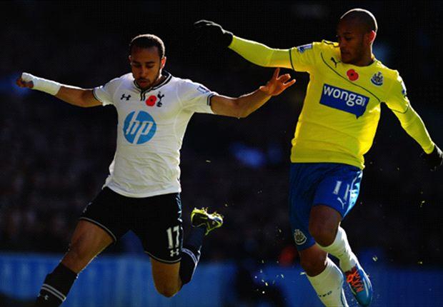 Loic Remy Antar Newcastle United Tekuk Tottenham Hotspur
