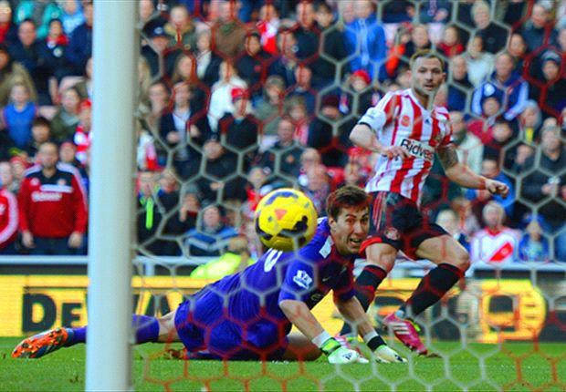 Sunderland 1-0 Manchester City: Bardsley strike stuns Pellegrini's men
