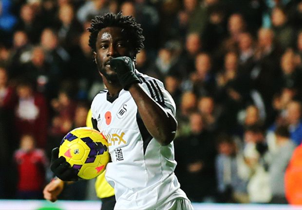 Swansea striker Bony could miss 'several weeks'