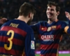 Barcelona team-mates Gerard Pique and Lionel Messi