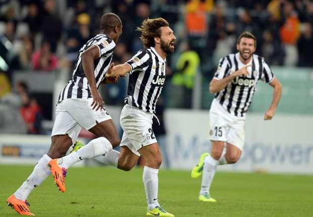 Pirlo, tre stagioni e due scudetti con la maglia della Juventus