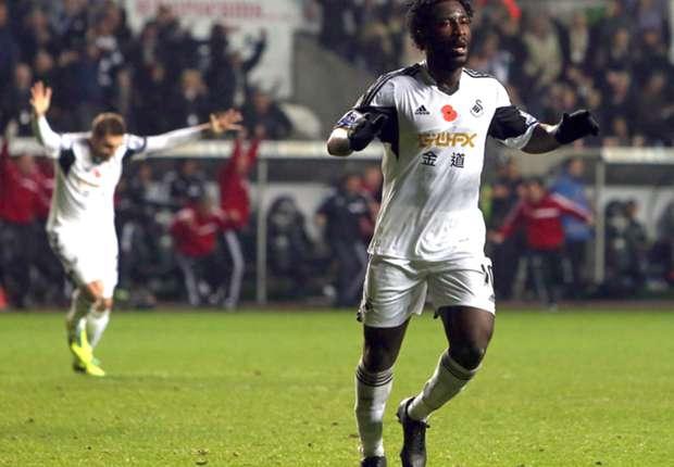Swansea boss Laudrup pleased with Bony progress