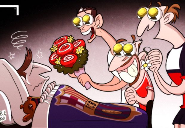 Los competidores de Messi por el Balón de Oro festejan su lesión.