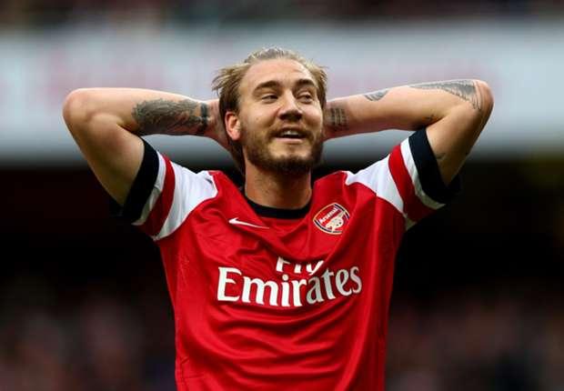 Bendtner mag naar verluidt in januari vertrekken bij Arsenal.