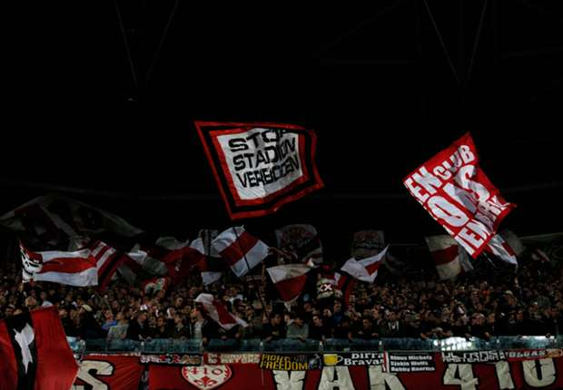 Ajax fans during their Champions League clash