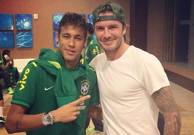 Neymar y Beckham, dos cracks para la foto.