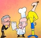 [만평] 즐라탄의 요리사