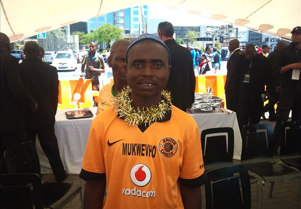 Kaizer Chiefs fan Mukwevho (Photo by Ernest Makhaya)