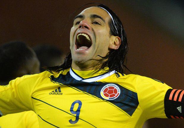 Radamel Falcao jugando con Colombia