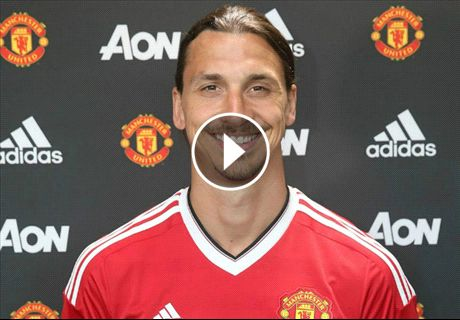 WATCH: Zlatan trains with Man Utd