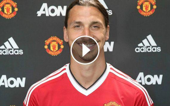 WATCH: Zlatan's first Man Utd interview