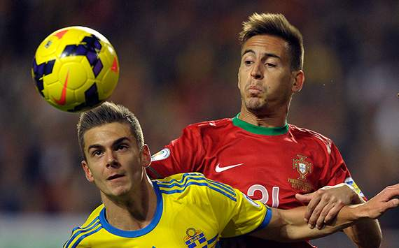 Alexander Kacaniklic Sweden Joao Pereira Portugal 2014 World Cup Qualifier Play Off 11152013