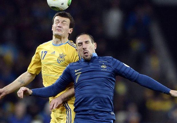 Ukraine kept fouling Ribery, complains Deschamps