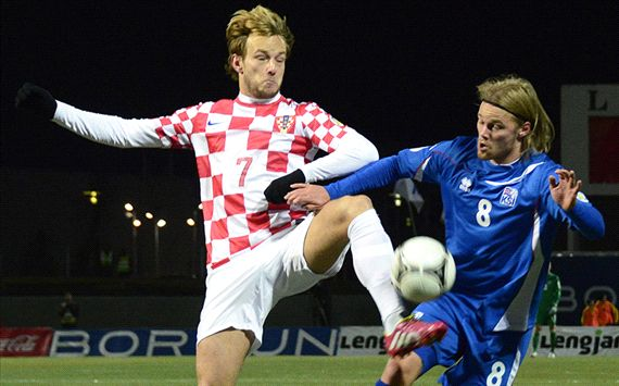 Birkir Bjarnason; Ivan Rakitic Iceland vs Croatia FIFA World Cup 2014 play-off 11152013