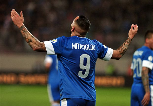 Greece 3-1 Romania: Masterful Mitroglou puts hosts in control of the tie