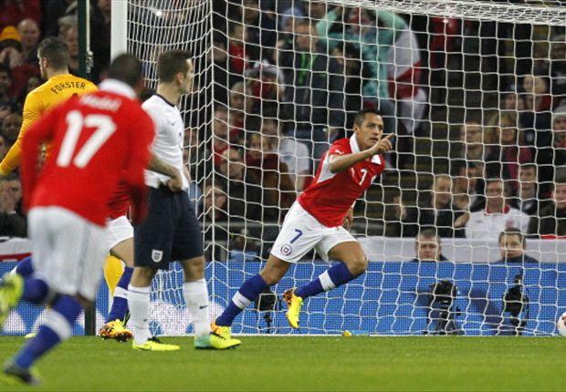 Inglaterra 0-2 Chile: Alexis Sánchez asalta Wembley