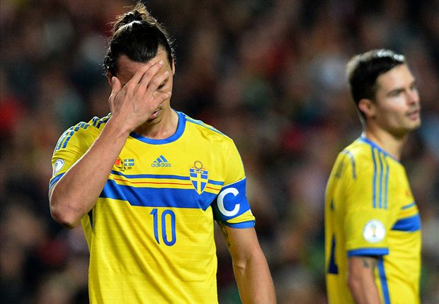Ibrahimovic facepalm, Nasri's head in hands & Ronaldo tears away - Friday's internationals in pictures