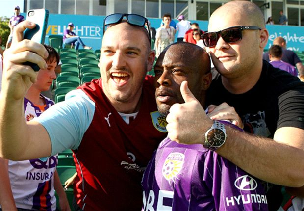 All the way to Australia for a picture with a Burnley fan