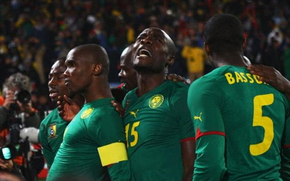 CAMEROON TUNISIA WORLD CUP QUALIFICATIONS GOAL CELEBRATION