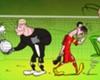 Zaza, un saltamontes en los penaltis del Alemania - Italia