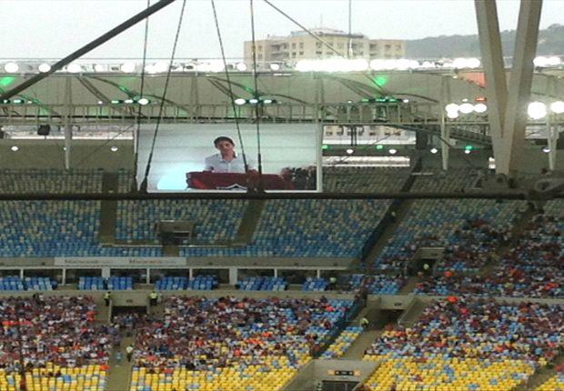 Así fue la presentación de Conca en el Maracaná.