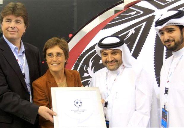 Monika Staab bei der Nominierung in Katar