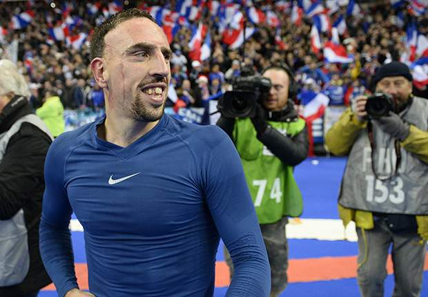 Nach Abpfiff so erleichtert wie euphorisiert: Franck Ribery