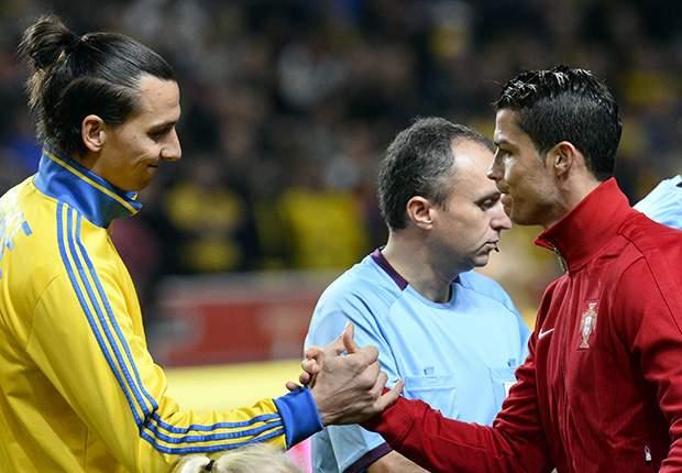 Ibrahimovic y Ronaldo fueron protagonistas dentro y fuera de la cancha
