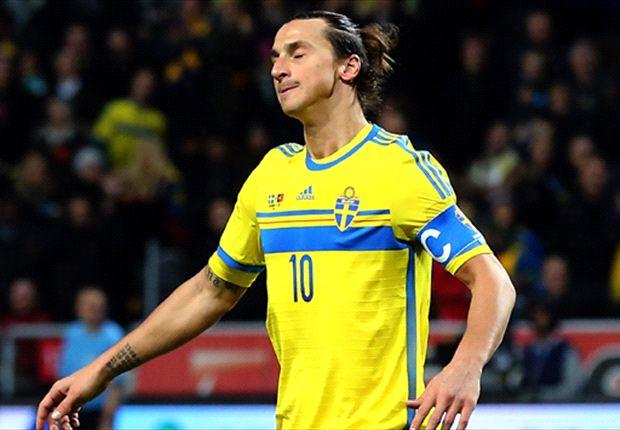Waarschijnlijk speelt Zlatan Ibrahimovic nooit meer een WK