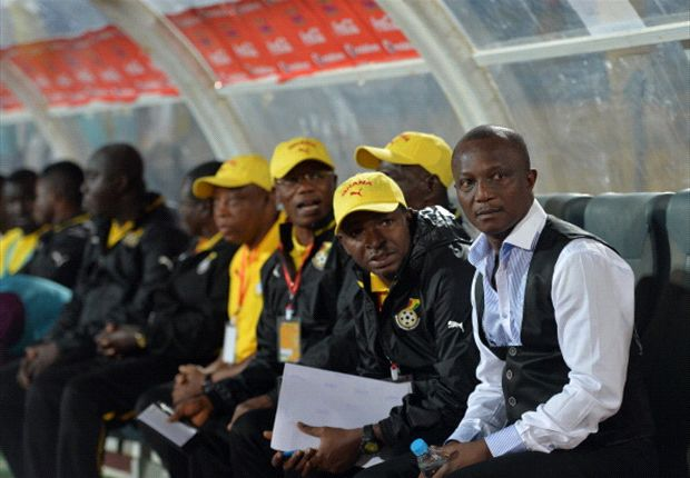 Kwesi Appiah and Ghana bench