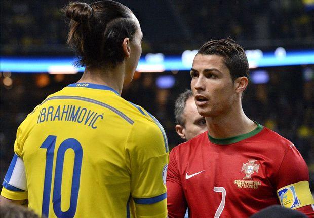 Ibrahimovic erzielte am Dienstag zwei Tore, Ronaldo sogar drei