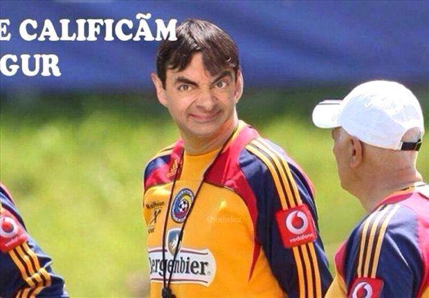 Adrian Mutu subió a su cuenta en Facebook una foto de Victor Piturca con la cara de Mr. Bean