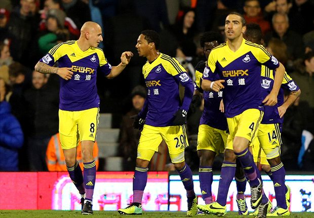 Fulham 1-2 Swansea: Shelvey piles pressure on Jol
