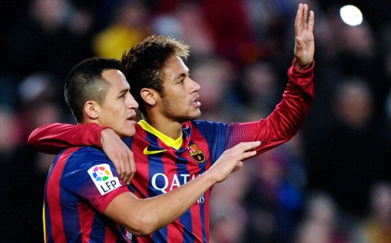 Alexis Sanchez Neymar Barcelona Granada La Liga 11232013