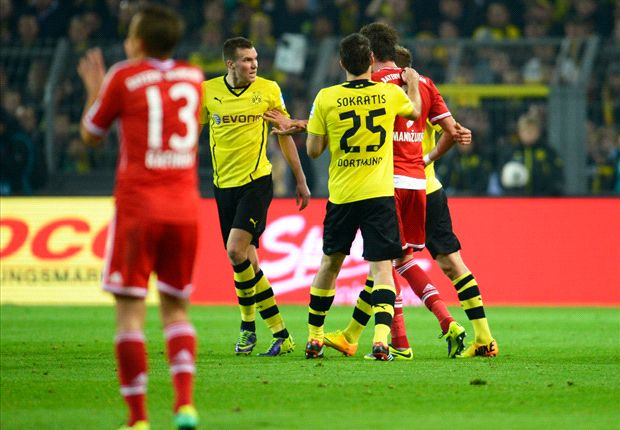 Zwischen Borussia Dortmund und Bayern München ging es hoch her